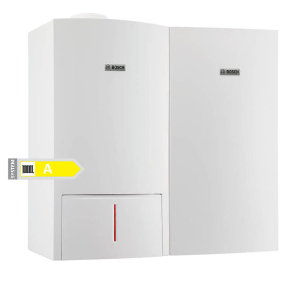Bosch Condens 5000W 14/6 gasfyr komplet installation
