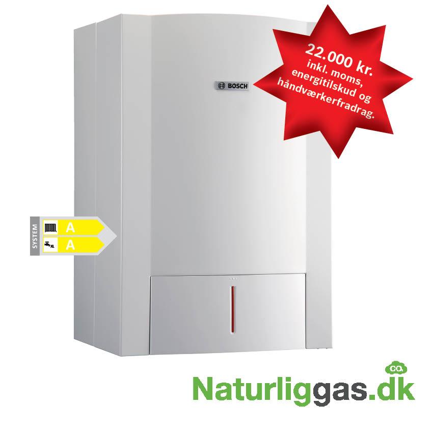 Naturliggas.dk billigt gasfyr installation Bosch Condens 5000 WT 30/4 _med pris og logo ...